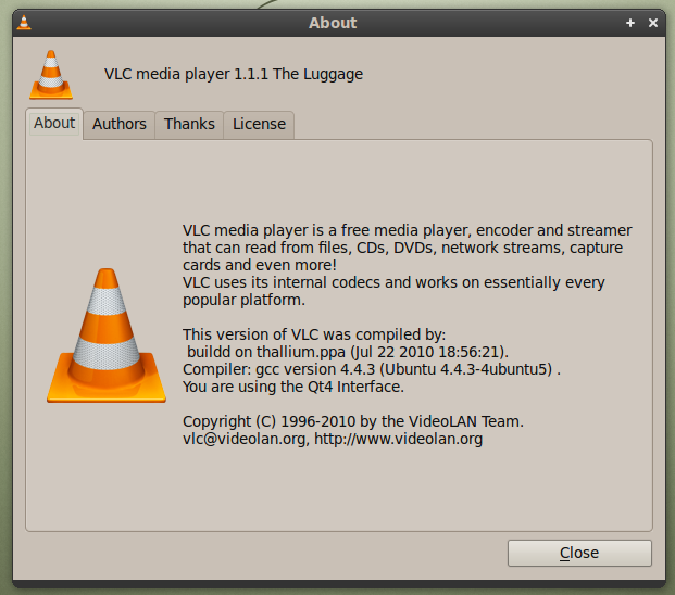 How to Install VLC 1 1 1 in Ubuntu 10 04