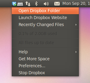 Dropbox in Ubuntu