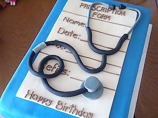 One Sweet Treat Stethoscope Cake
