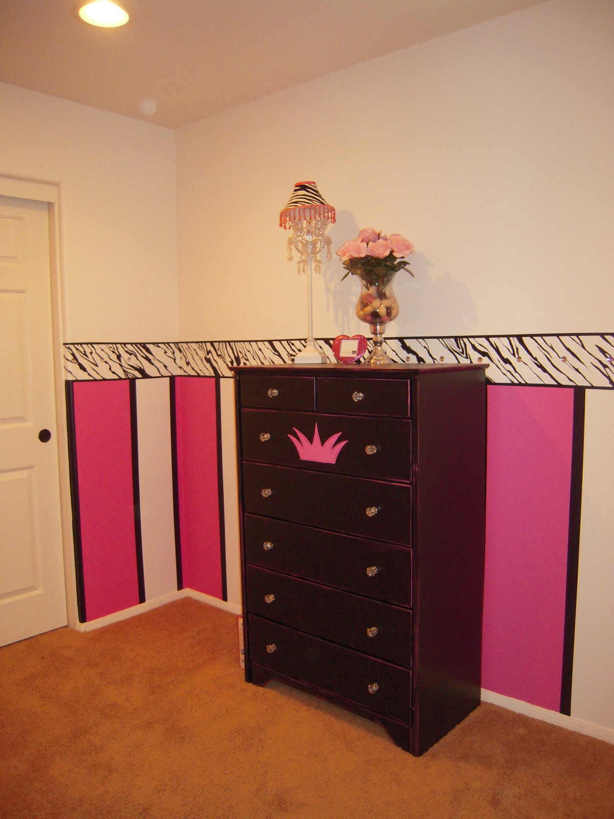 Posh Paint Designs Black And White And Hot Pink All Over