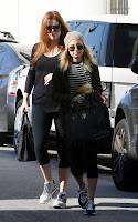 Khloe Kardashian out for a workout with Nicole Richie