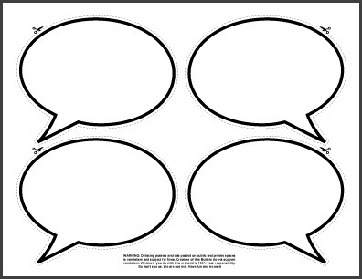 photo booth speech bubble template - gui interfaceyoursystem printable cold sore stickers