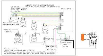 6 String Custom bass Build: Preamp Schematics