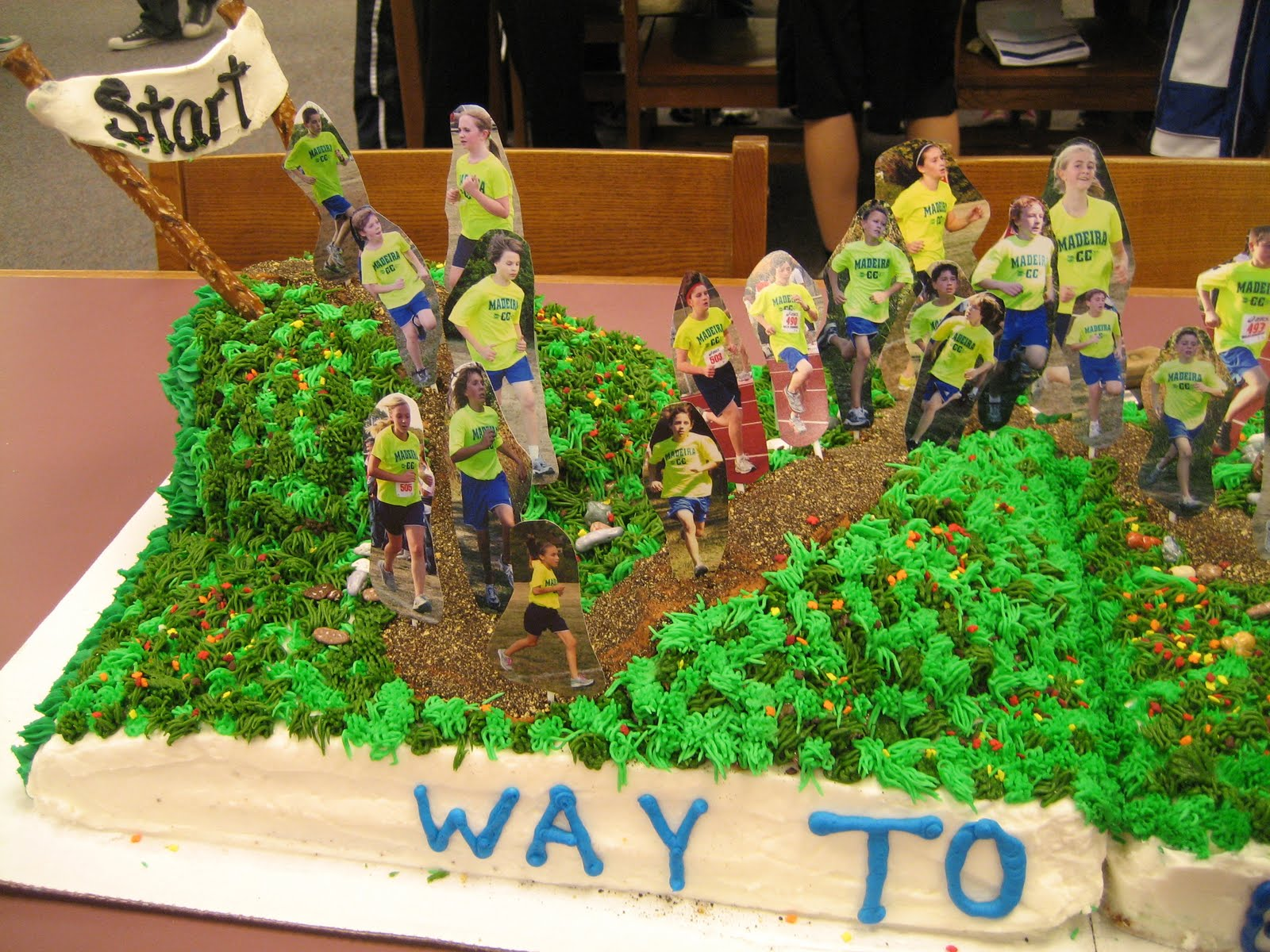 You Re Art By Corie Kline Cross Country Cake