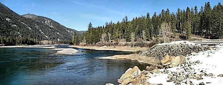Kootenai River in NW Montana, near Canadian Border
