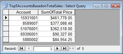 Roger's Access Blog: Top Query Revealed: Aggregate Values