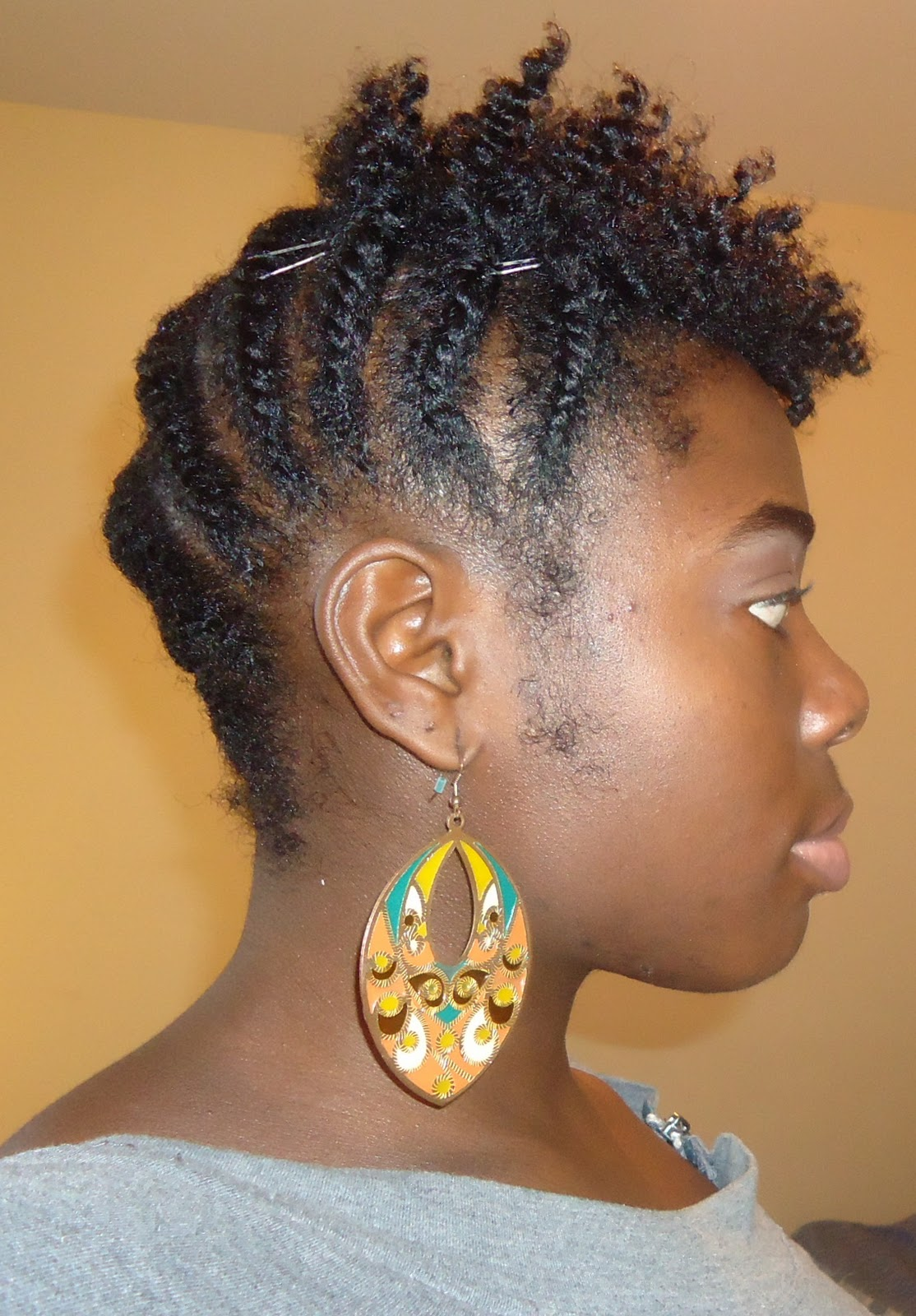 New Hair Style Big Slanted Flat Twists In Back And Flat Twist Out