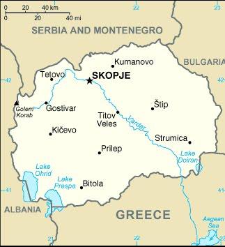 Makedonija Karta Makedoniјe