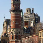 Jefferson Market Castle Cluster - A castle-like cluster of buildings on Sixth Ave. in Greenwich Village, featuring the Jefferson Market Library.