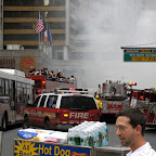 Tourists Shoot Taxi Fire - From the top of the tour bus, on 7th Ave. near 53rd St.