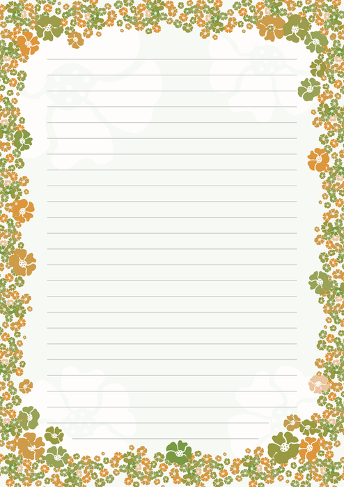 Ilustracoes Papeis De Carta Com Flores