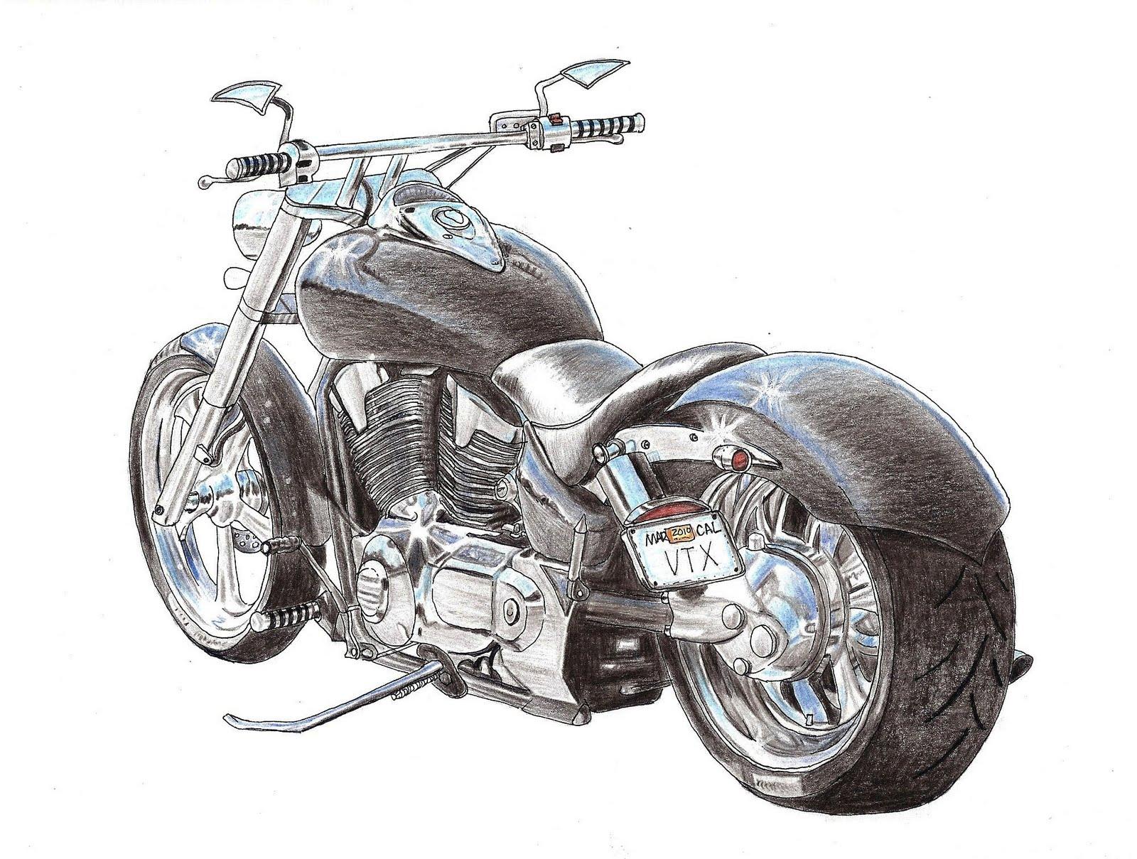 custom honda vtx by leo hartshorn [ 1600 x 1209 Pixel ]