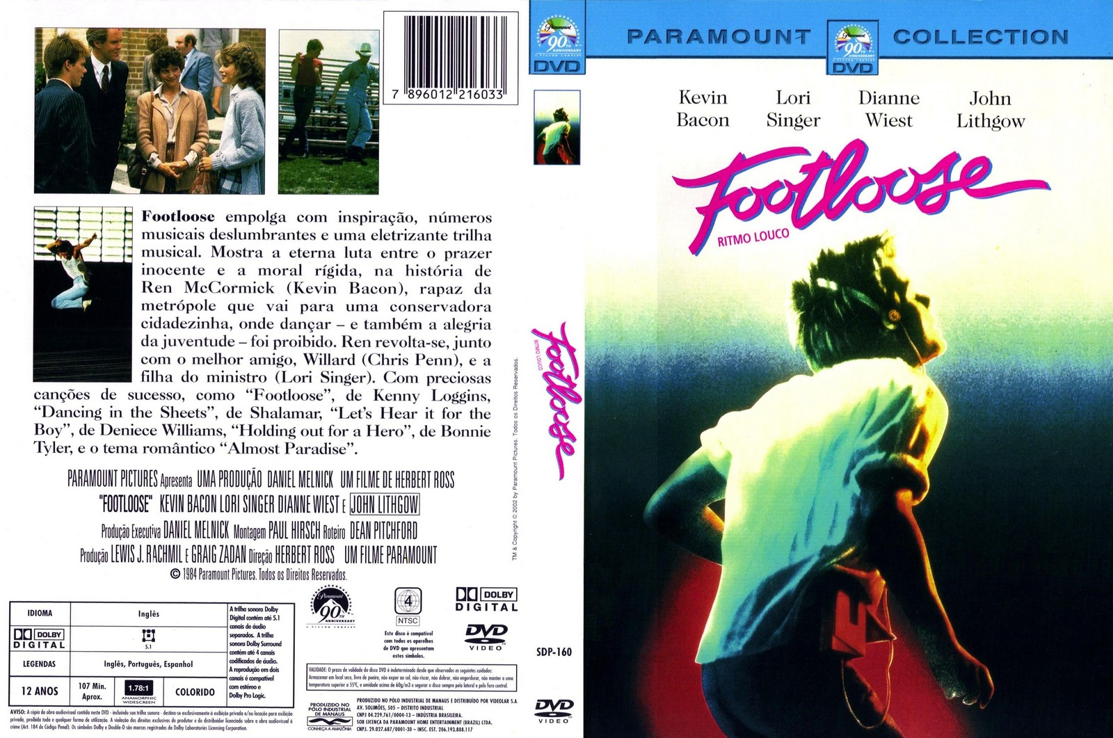 capa dvd footloose