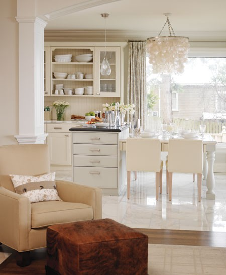 Sarah Richardson Dining Room: Bellevue And Rose: Room Of The Day {glam White Kitchen}