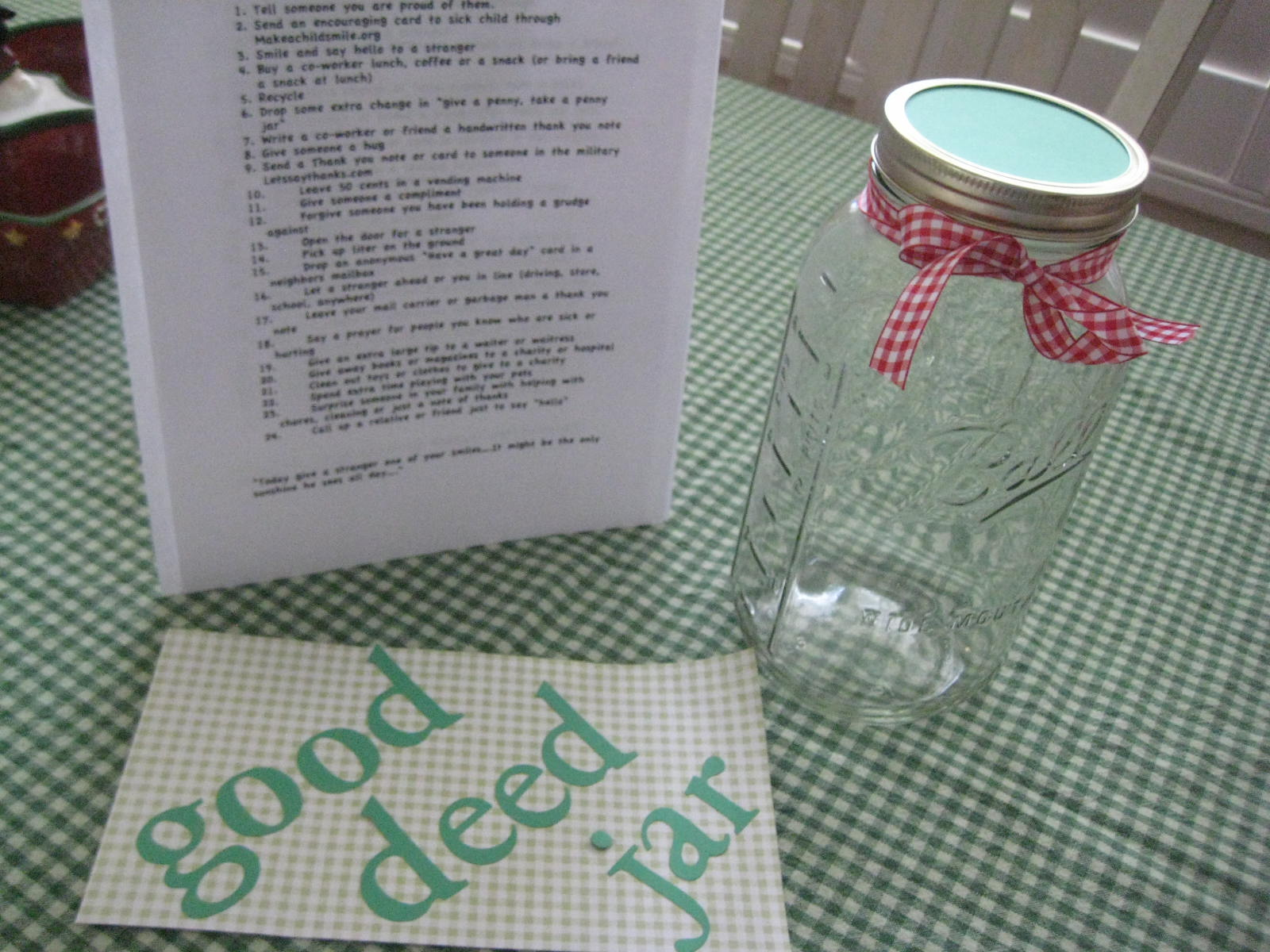 Creative Party Ideas By Cheryl 24 Days To Christmas Good Deed Jar