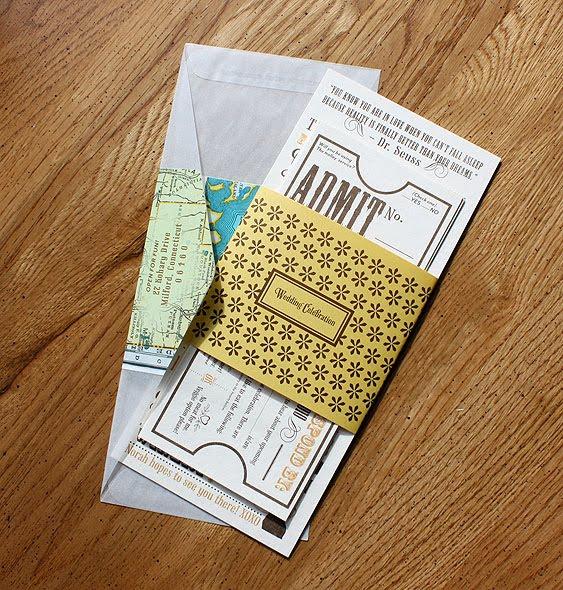 Wedding Invitation Tickets: Paisley Quill: Winery Wedding Invitations With Ticket Response