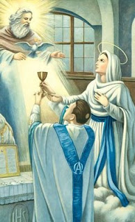 Blessed Mother and Priest