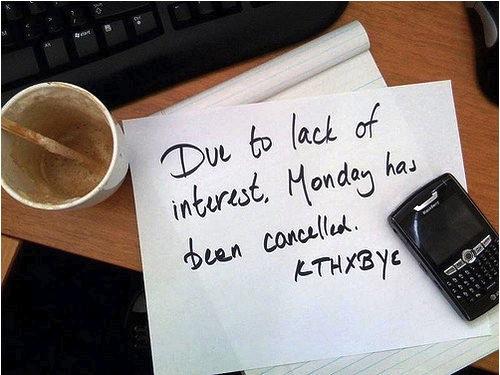Happenstance Monday No Go