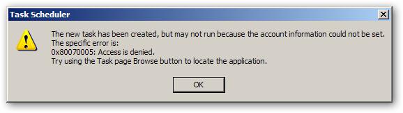 """WeB LoG'S JuUiER: """"0x80070005: Access is denied"""