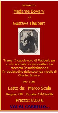 Audiolibro Mdame Bovary di Gustave Flabert letto da Marco Scala