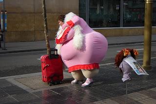 Fat Lady On Car 6