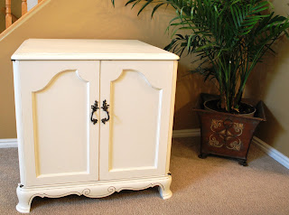 White, Distressed French Provincial Chest