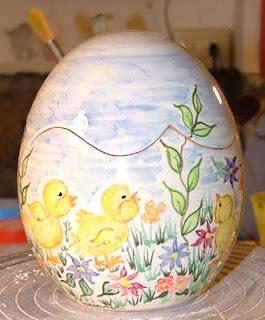 Uova Di Ceramica Dipinte A Mano.Ceramica Che Passione Dipingere Le Uova Di Ceramica Per Pasqua