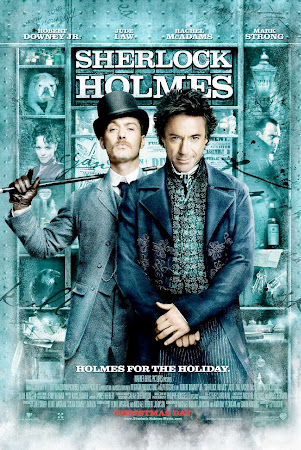 Poster Of Free Download Sherlock Holmes 2009 300MB Full Movie Hindi Dubbed 720P Bluray HD HEVC Small Size Pc Movie Only At iworldfree4u.club