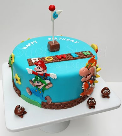Super Mario Bros Cake and Oreo IMBC Recipe Sugar Sweet Cakes and