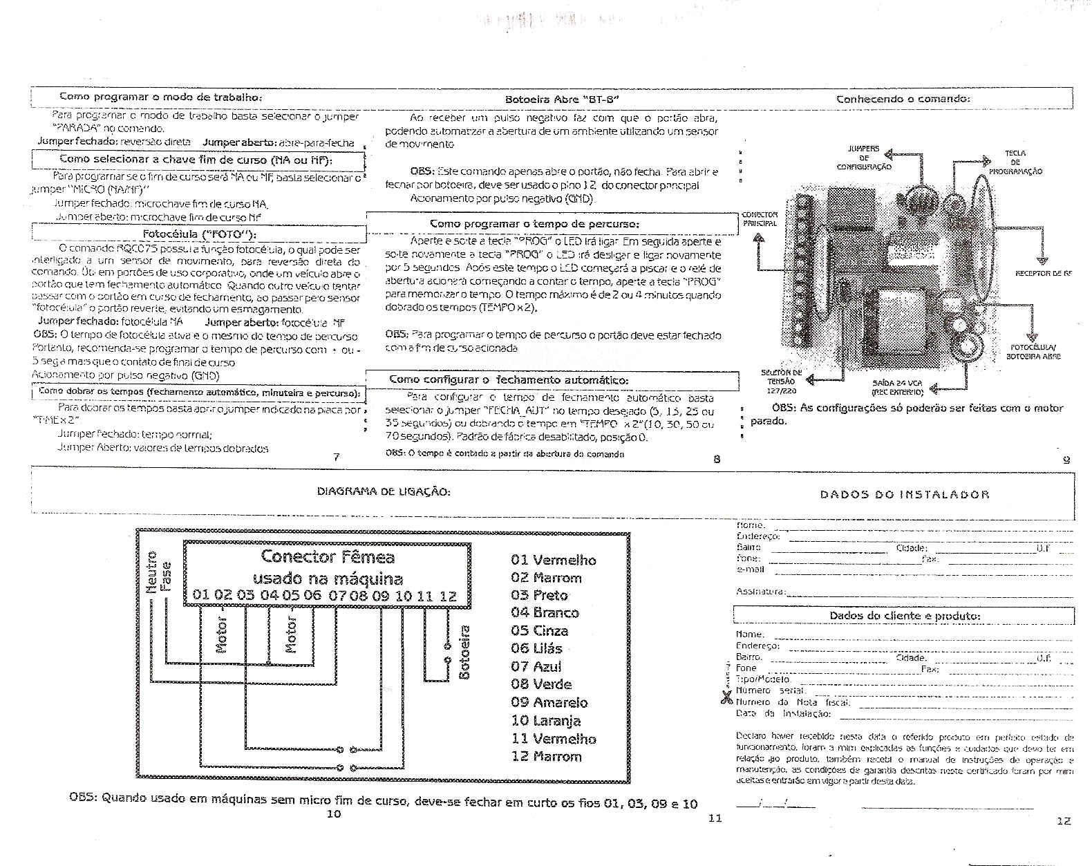 dicas do instalador: manual central eletronica do RLG