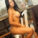 Andrea Rincon, Selena Spice Galeria 4 : Pantalon Azul y Top Transparente Foto 149