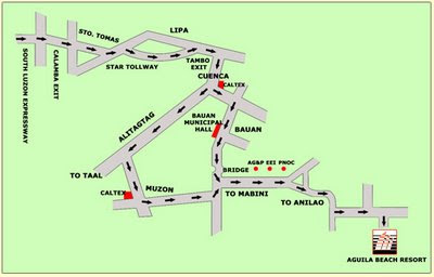How to get to Aguila Beach Resort