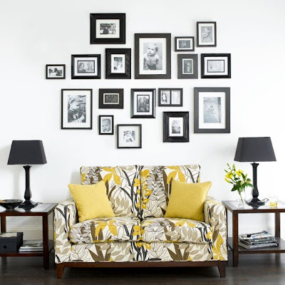 belle maison: Idea Gallery: Wall Decor Above the Sofa