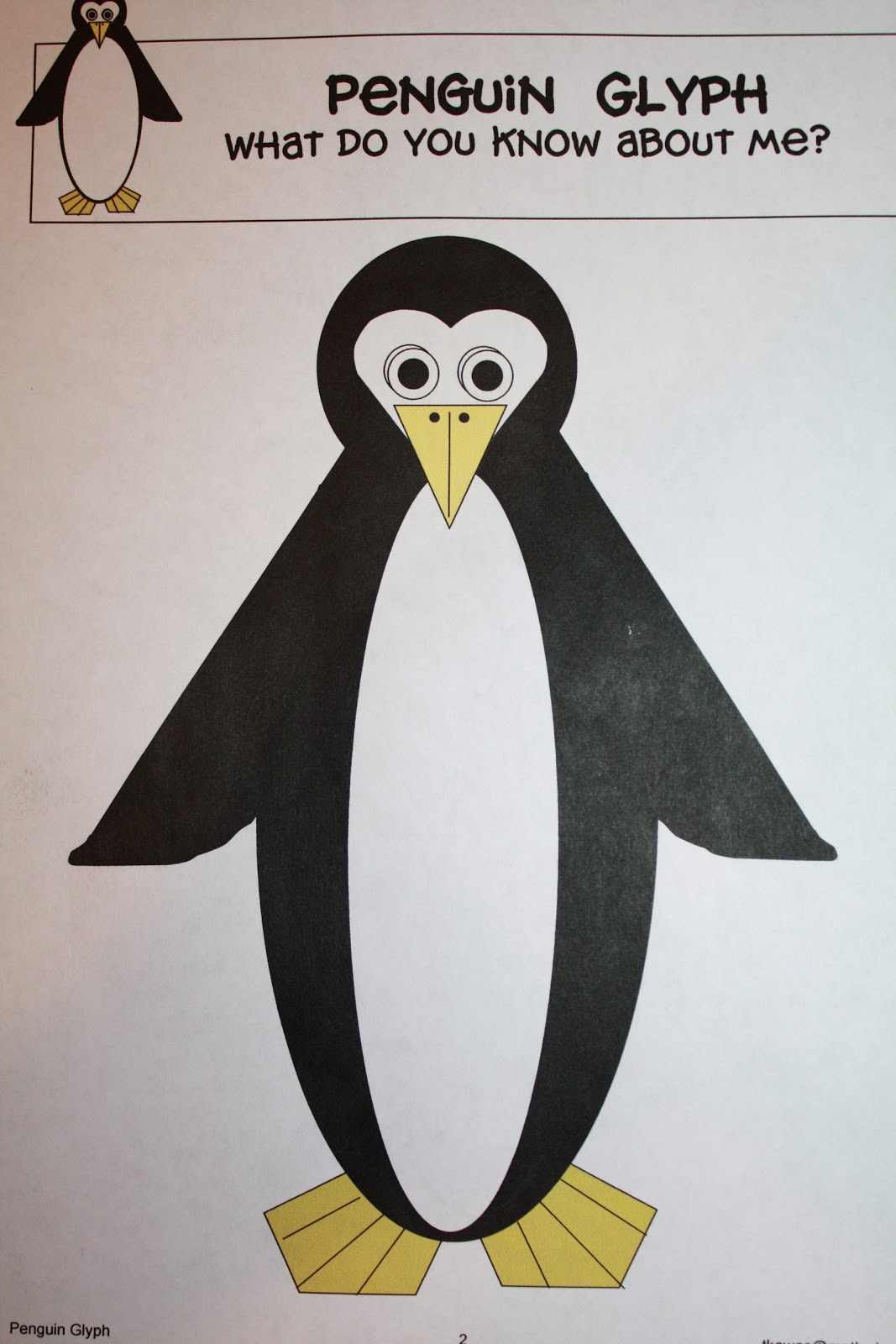 Penguin Glyph Pattern