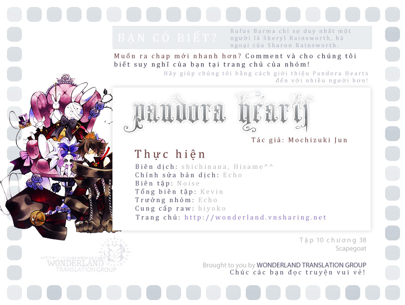 Pandora Hearts chương 038 - retrace - xxxviii scapegoat trang 1