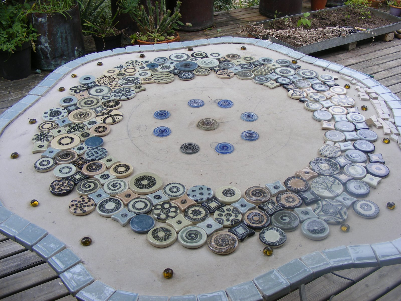 attractive How To Make A Mosaic Table Part - 14: How To Mosaic And Make Beautiful Objects For Home Garden Making