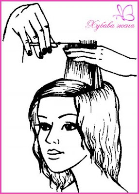 подстрижка Каскада - бретон 3 начин