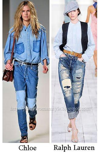 джинси с кръпки