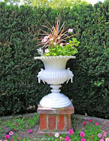 urn of flowers