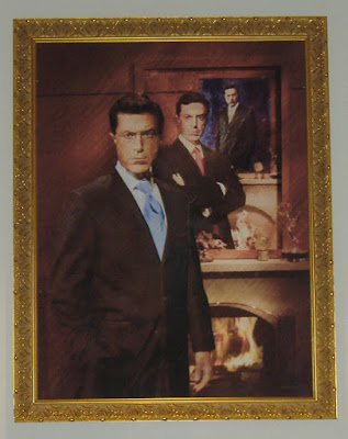 Photo of Steven Colbert's painting