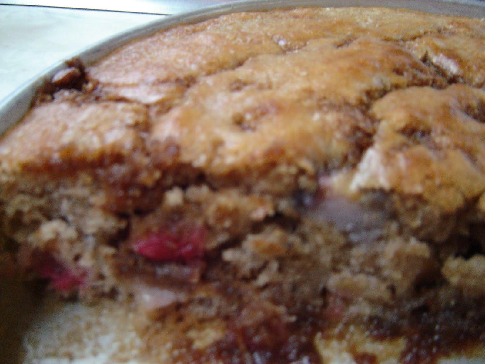 Sourdough Rhubarb Coffee Cake