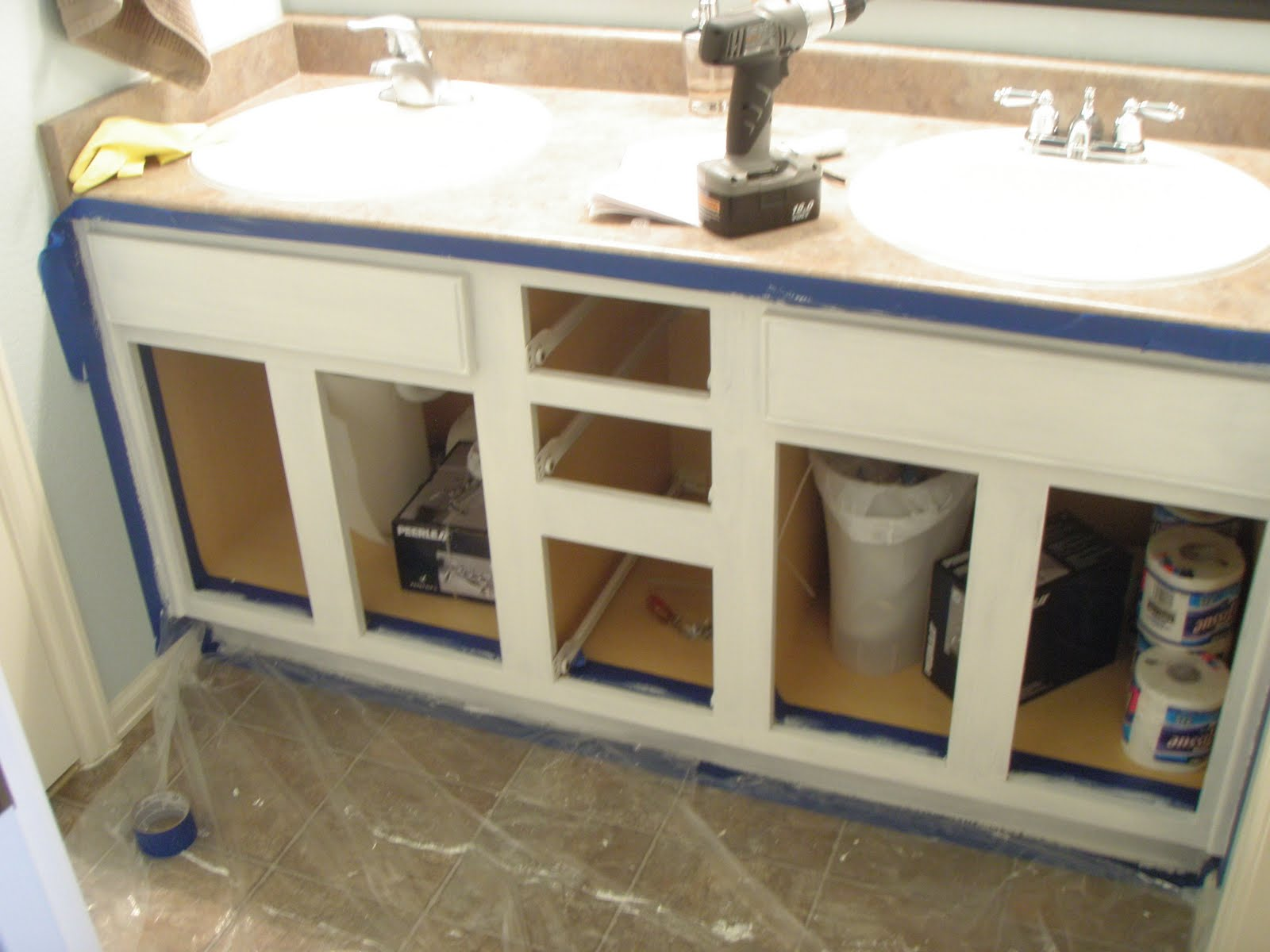 E Amp D Painting Bathroom Cabinets