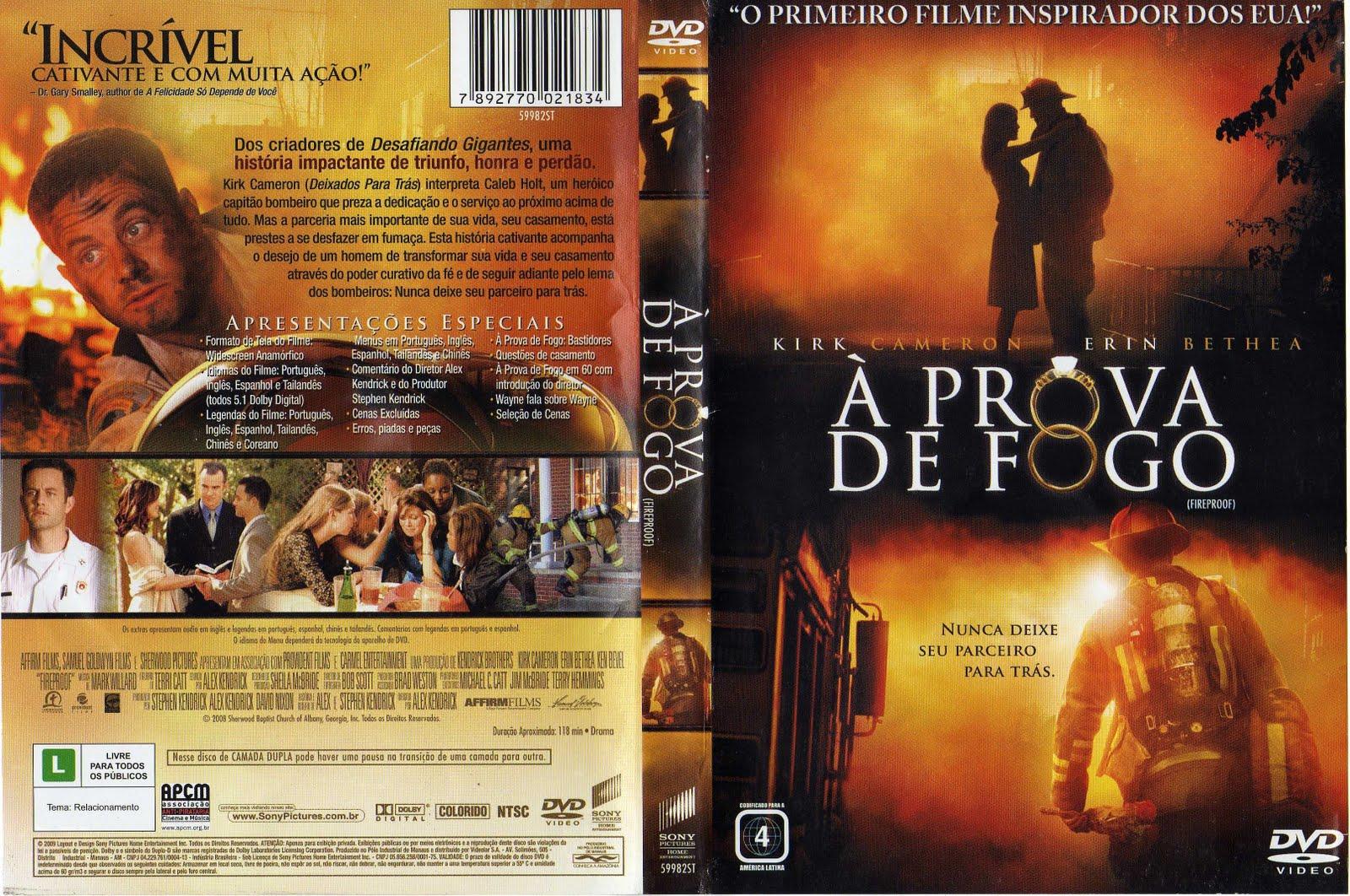 filme a prova de fogo dvd-r