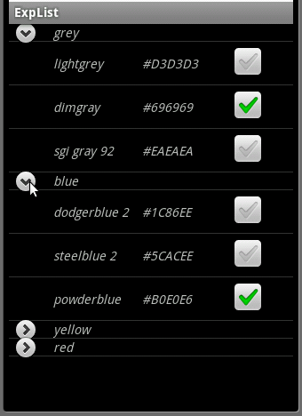 My life with Android :-): Expandable list and checkboxes revisited