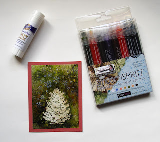 Quick holiday card solution--smooch spritz could be the answer for DIYers