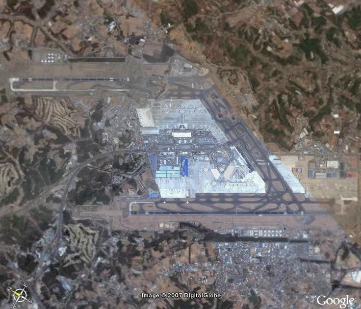 google earth images: tokyo narita international airport (nrt)
