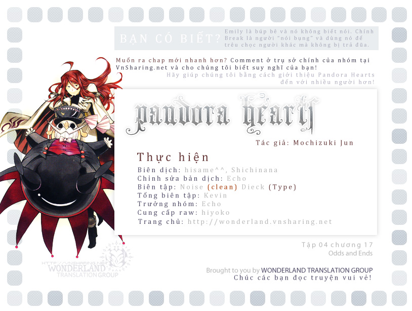 Pandora Hearts chương 036 - retrace: xxxvi sablier trang 1