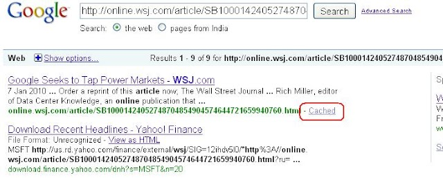 How to read complete articles from Wall Street Journal for Free