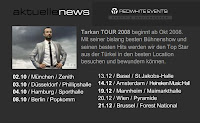 Tarkan's European concert venues for Winter 2008