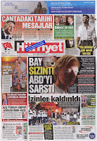 Front cover of paper Hurriyet, 27 July 2010